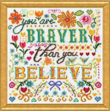 Braver Counted Cross Stitch Kit by Design Works
